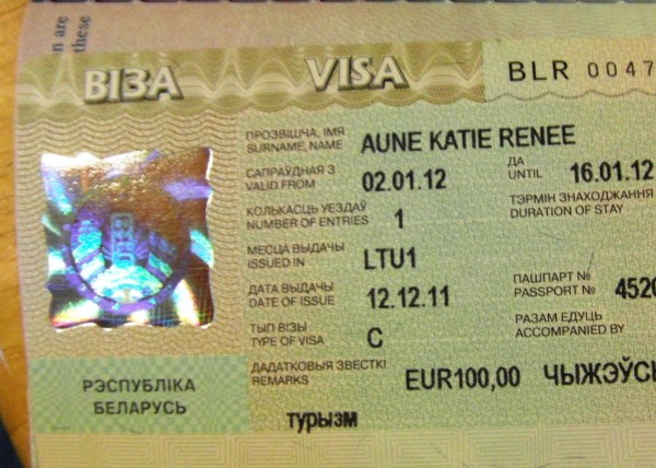 How I Got My Belarus Visa In Vilnius Lithuania Katie Aune